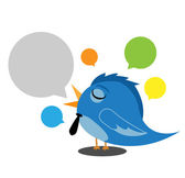 Bird tweet — Stock Vector