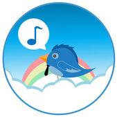Bird song — Stock Vector