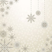 Snowflakes Backgrong — Stock Vector