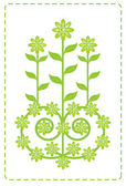Green flower wallpaper — Stock Vector
