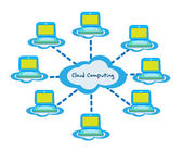 Cloud computing business vector — Vector de stock