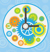 Gear clock vector — Stock Vector