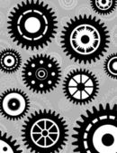 Gear set background wallpaper — Vector de stock