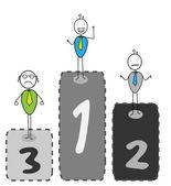 Zwycięzców konkursu 1 2 3 — Wektor stockowy