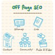 Stock Vector: Off Page SEO