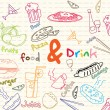 Food and drink banner — Stock Vector #9761738