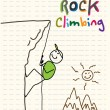 Stock Vector: Rock climbing