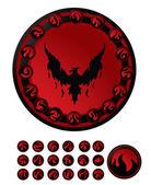 Black phoenix fire — Stock Vector