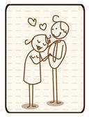 Romantický pár obchodník — Stock vektor