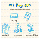 Off Page SEO — Stock Vector