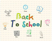 Back to school sign — Stock Vector