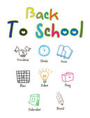 Back to school template design — Stock Vector