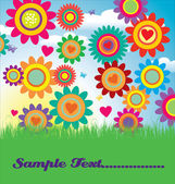 Floral card vector illustration — Stock Vector