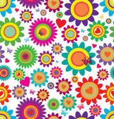 Fleurs de printemps - modèle vectorielle continue — Vecteur