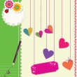 Cute Love background — Stock Vector