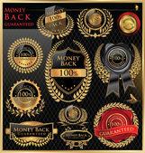 Money back satisfaction vector labels — Stock Vector