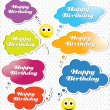 Happy birthday speech bubble — Stock Vector