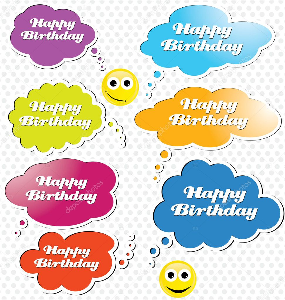 Happy birthday speech bubble — Stock Vector #10224134