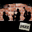 Jazz music background — Stock Vector
