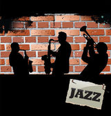 Jazz music background — Stockvector