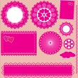 Image of Vector set lace frames — Stock Vector #10416510