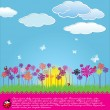 Cute floral background — Stock Vector #10417764