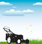 Lawn Mower background — Stock Vector