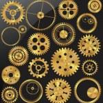Gold gear set — Stock Vector #10457984