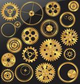 Gold gear set — Stock Vector