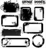 Empty Grunge banners — Stock Vector