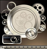 Abstract gear background — Stock Vector