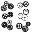 Stock Vector: Vector gear and cogwheel set isolated on white