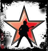 Rock star grunge background — Stock Vector