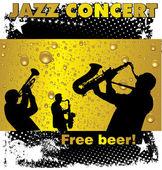 Jazz concert free beer wallpaper — Stock Vector