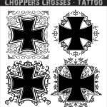 Śmigłowce krzyże tatuaż — Wektor stockowy