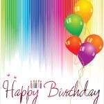 Happy birthday background — Stock Vector