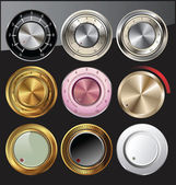 Control knobs set — Stock Vector