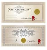 Vector certificate frame — Stock Vector