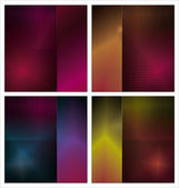 Abstract background - Set — Stock Vector