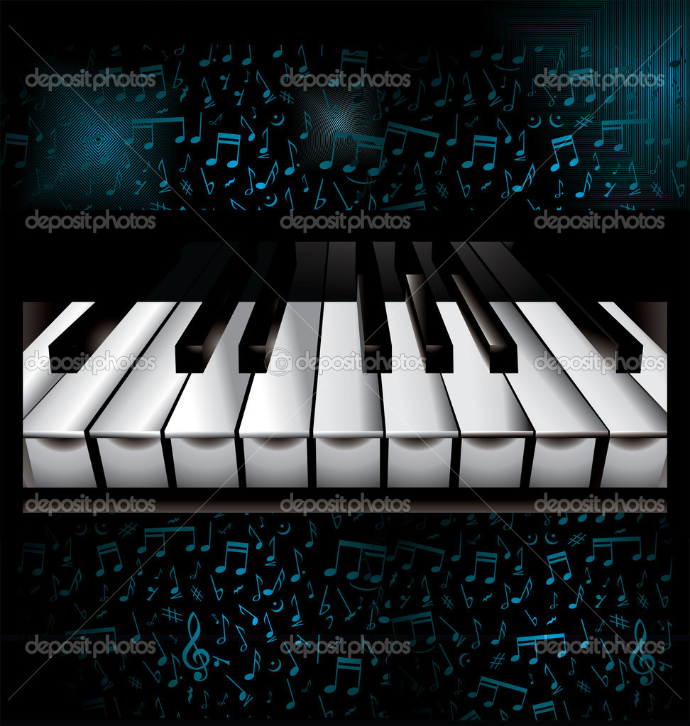 Piano Background Music: Stock Vector © Creative-4m #7984845