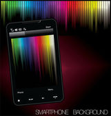 Smartphone rainbow background — Stock Vector