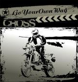 Motocross background — ストックベクタ
