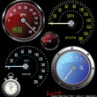 Royalty-Free Stock Vector Image: Set of vector Speedometer and Counter in miles and kilometers