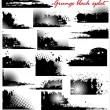 Grunge black splat - set — Stock Vector