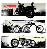 Grunge motorcycle banners — Stock Vector