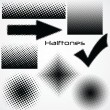 Halftone dot - set for your design - Stock Vector