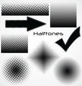 半色调点-设置为您的设计 — 图库矢量图片