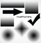 Halftone dot - set for your design — Stock Vector