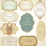 Vintage labels — Stock Vector #8271559
