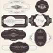 Stock vektor: Vintage labels
